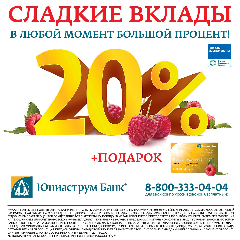 максимальная ставка по вкладам юниаструм банк