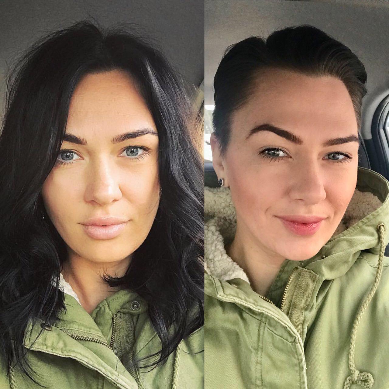 Проспорила роскошные волосы и может проспорить грудь